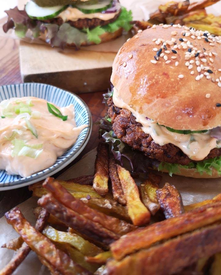 Veggie Burger mit Brioche Buns