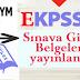 EKPSS Sınava Giriş Belgeleri Yayında