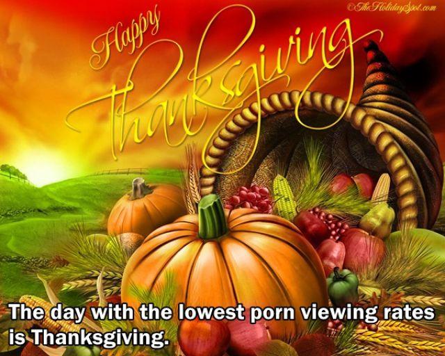 hari thanksgiving hari dimana orang jarang mengakses situs porno