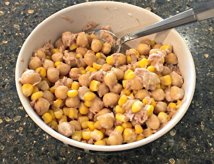 Recipes I've Tried Lately - Corn, chickpeas, tuna and mayo