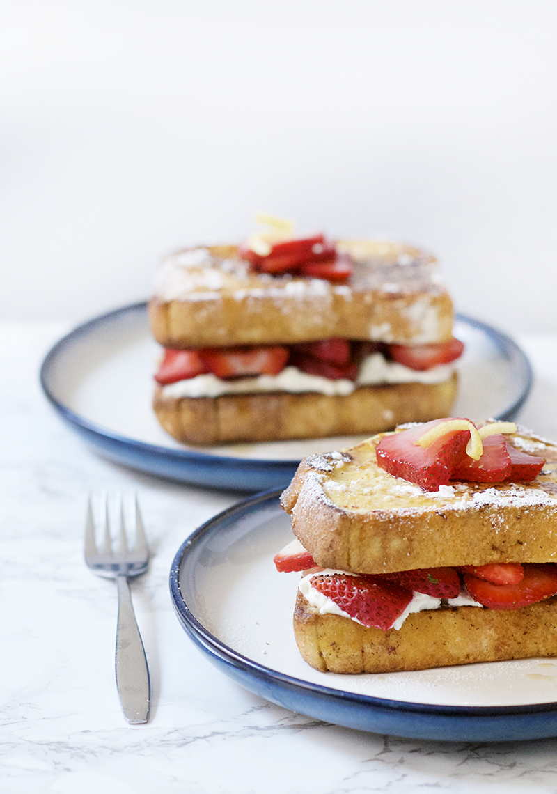 Strawberry Lemon Stuffed French Toast - Obsessive Cooking ...