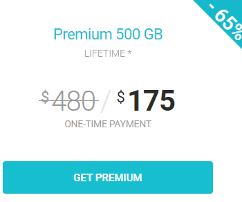 Get 500GB storage space forever