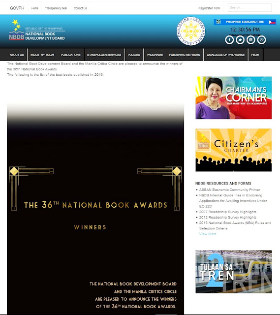 http://booksphilippines.gov.ph/36th-national-book-awards-winners/#