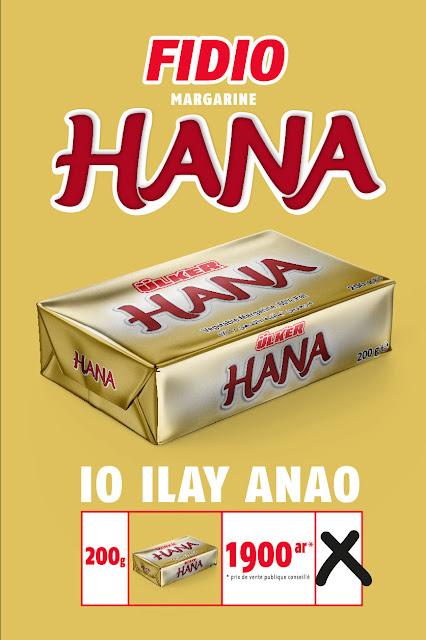 margarine Hannah Madagascar affiche PLV, élection
