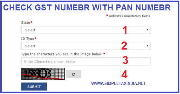 VERIFY GST NUMBER CHECK GST NUMBER WITH PAN | SIMPLE TAX INDIA