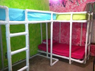 camas cuchetas para niños con tubos pvc