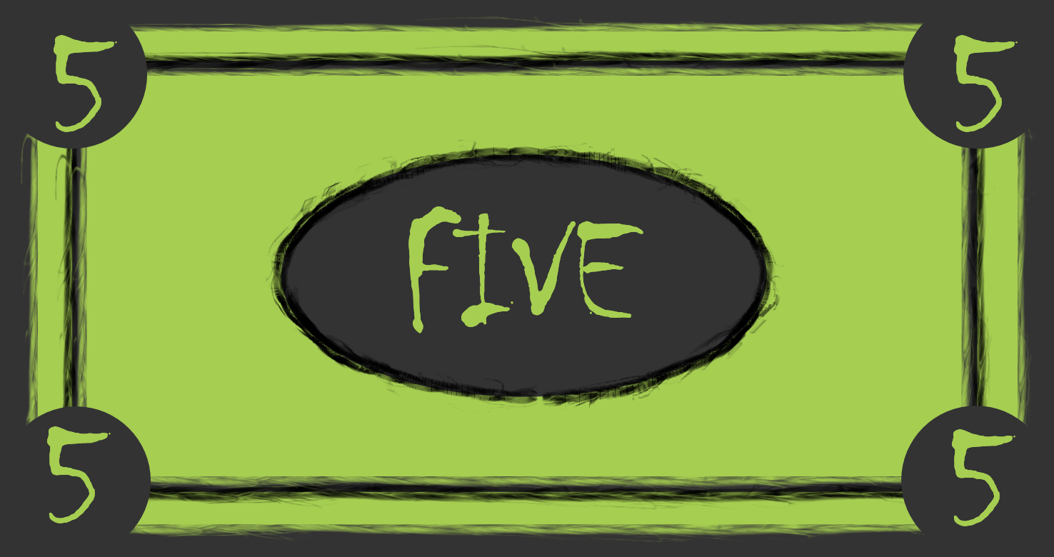 five dollar clipart - photo #38