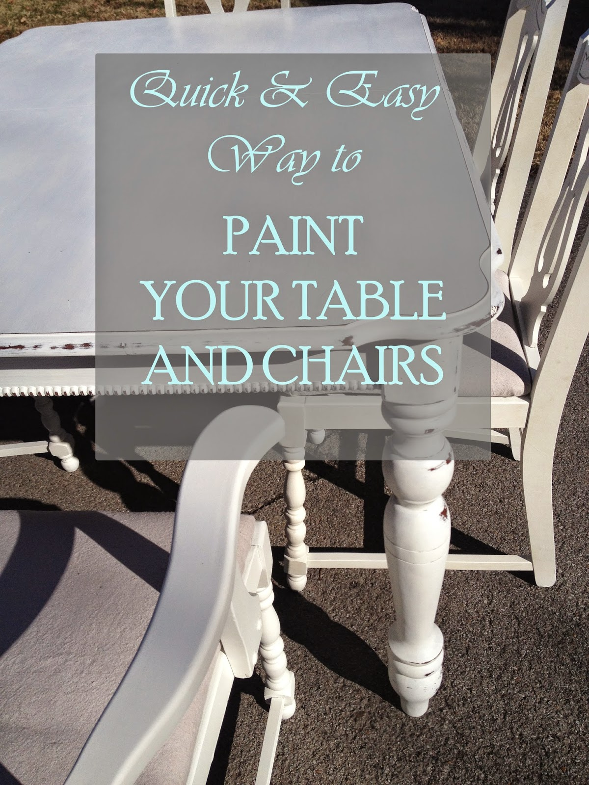 quickly and easily paint table and chairs with paint sprayer, the altered past blog