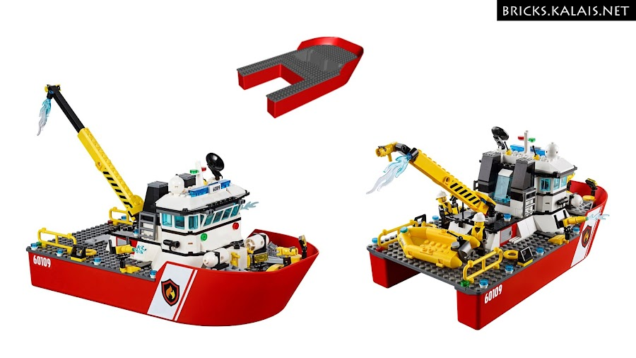 9. Brick 18913c01 and LEGO set 60109. Who would think you can turn it to the spaceship? :D
