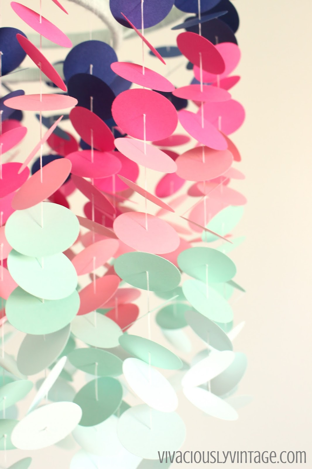 DIY Cardstock Ombre Baby Mobile