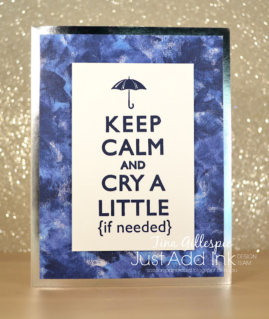 scissorspapercard, Stampin' Up!, Just Add Ink, Keep Calm, Lift Me Up,Garden Impressions DSP