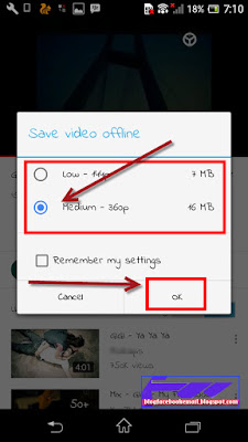 cara download video youtube dimainkan offline android