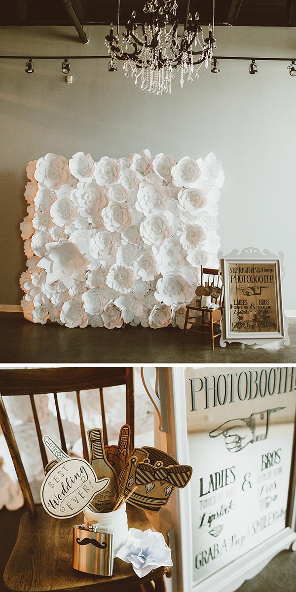 wedding inspiration: photo booth from boho wedding reception | Creative Bag