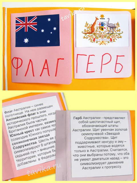 "Лэпбук ""Австралия"" - lapbook Australia"