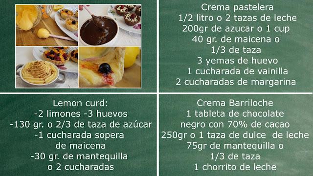 ingredientes cremas para tartas pay