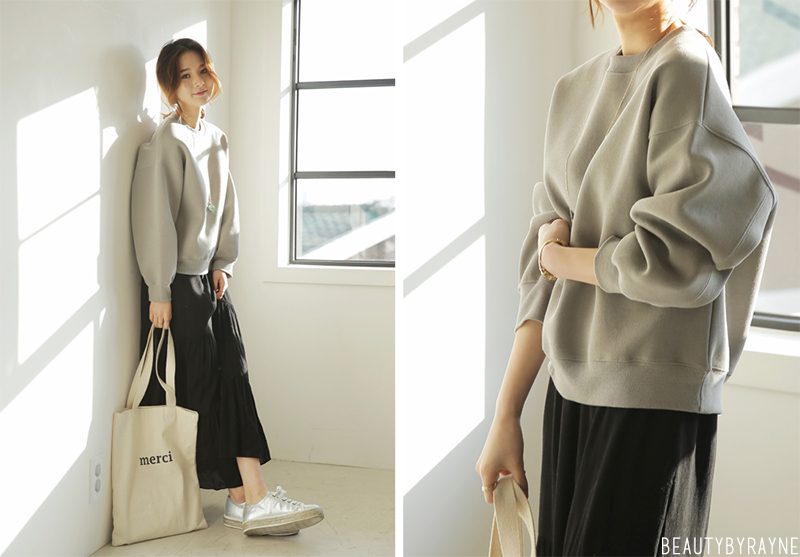 Korean fashion inspiration sweatshirt