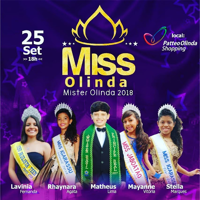 Concurso Miss e Mister Olinda no Shopping Patteo Olinda