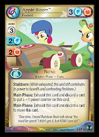 My Little Pony Apple Bloom, Fastest Defenders of Equestria CCG Card