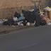 Sant'Angelo in Formis, i marciapiedi del paese sono pieni di cumuli di rifiuti