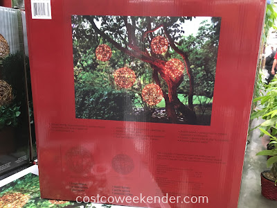 Costco 1031658 - Inside Outside Garden Lighted LED Spheres: great for bbq's and outdoor parties