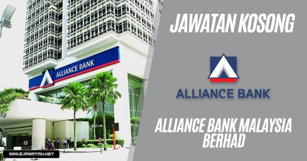 jawatan kosong Alliance Bank Malaysia Berhad 2019