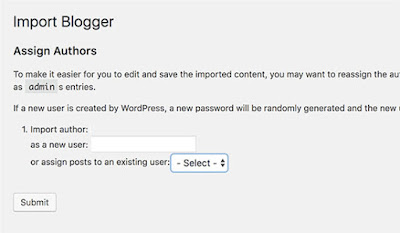 transfer from blogger to wordpress