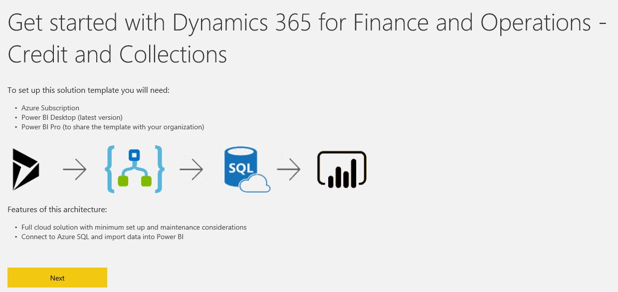 Dynamics 365 FFO - PowerBI and Application Templates WITHOUT