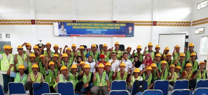Dinas PUPR Lampura, buka Bintek dan Pelatihan tenaga kerja Kontruksi.