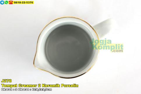 Tempat Creamer 2 Keramik Porselin