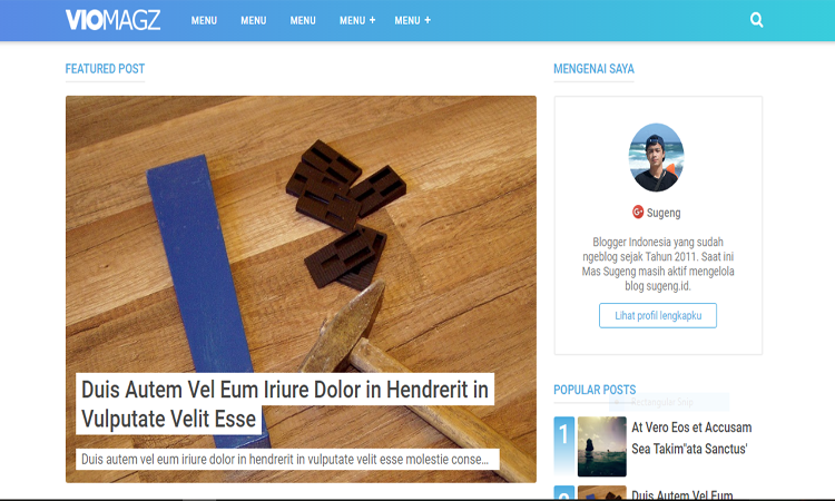 Download VioMagz V2.8 Blogger Template Gratis