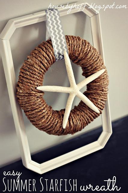 Starfish Wreath (10 Summer Seashell Decor Ideas) #decor #decorating #seashells #beach #summer #sea
