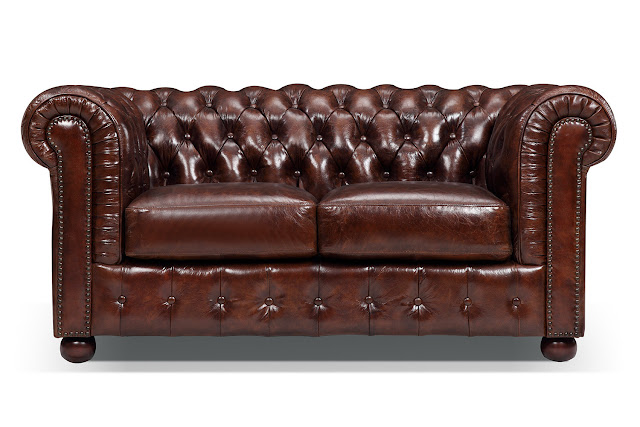 chesterfield loveseat leather