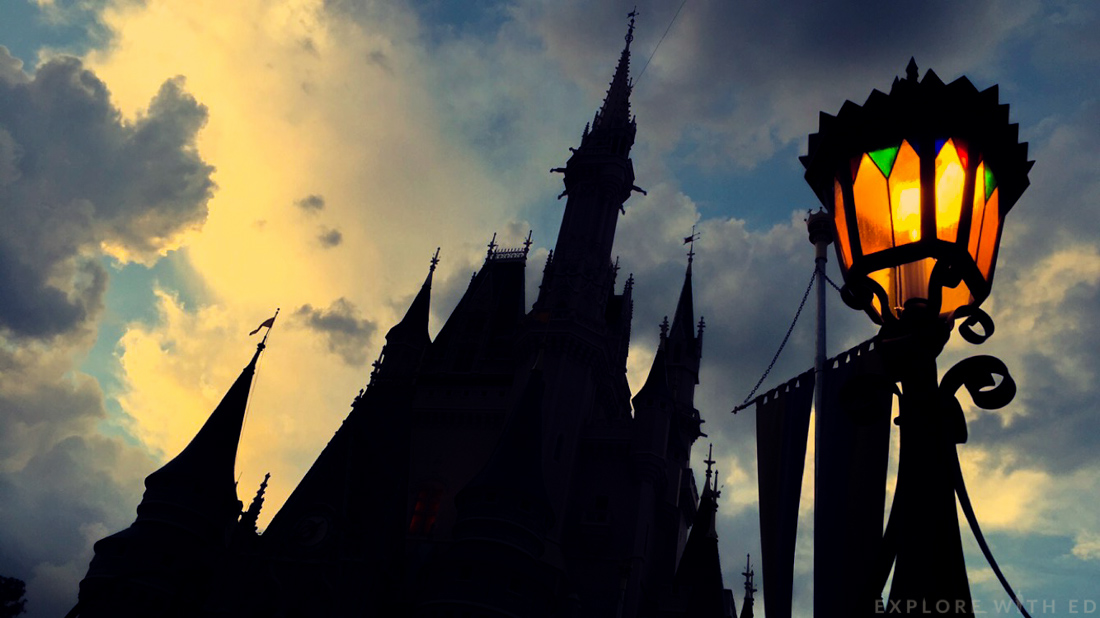 Silhouette Cinderella's Castle in Magic Kingdom