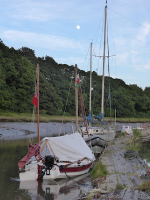 mooring overnight at treluggan boat yard pontoon