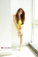 Actress Model Ihana Dhillon Poshoot Gallery in Yellow Lace Short Dress  0027.jpg