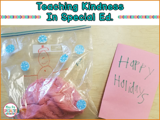 It's often challenging for my students with autism and social emotional disorders to develop empathy and kindness for others. It's hard for them to think beyond themselves. Hers an easy way to begin targeting it. This idea is easy and can be applicable to any classroom.