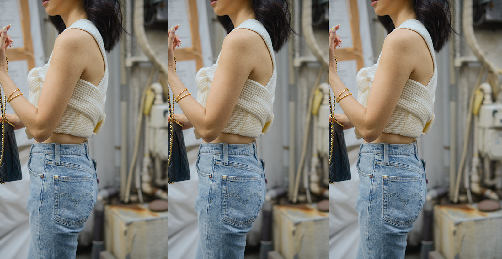 Crop knitted top style, transitional summer outfits, tokyo street style, Simonett Nanu top, style blogger Van Le (FOREVERVANNY.com)