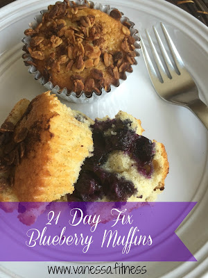 muffins, 21 Day Fix, autumn calabrese, blueberry,