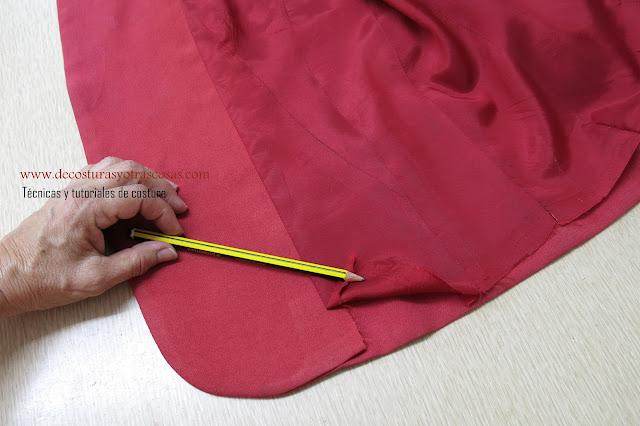 forma clásica de forrar una prenda