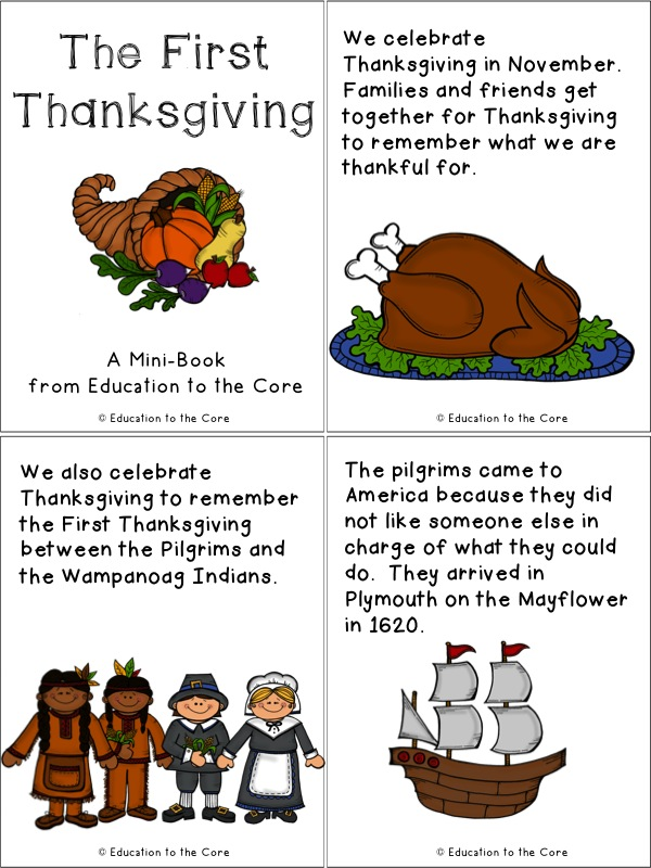Thanksgiving Literacy Activity - Education to the Core