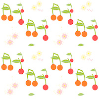 cherry pattern paper
