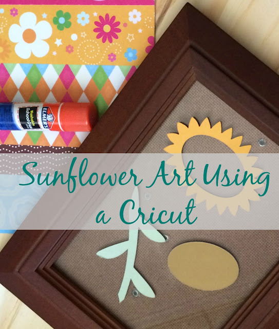 Make fun Sunflower Framed Art using your Cricut