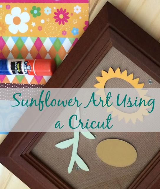 Make fun Sunflower Framed Art using your Cricut