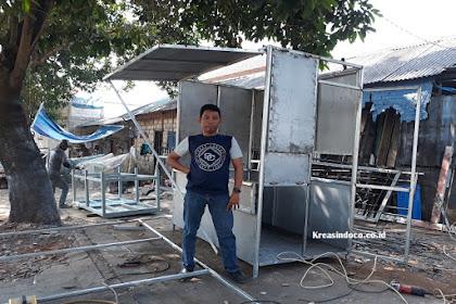 Jasa Pembuatan Booth Semi Kontainer di Jabodetabek dan Bandung Harga Murah
