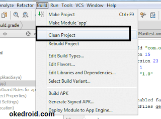 Build >Clean Project Android Studio