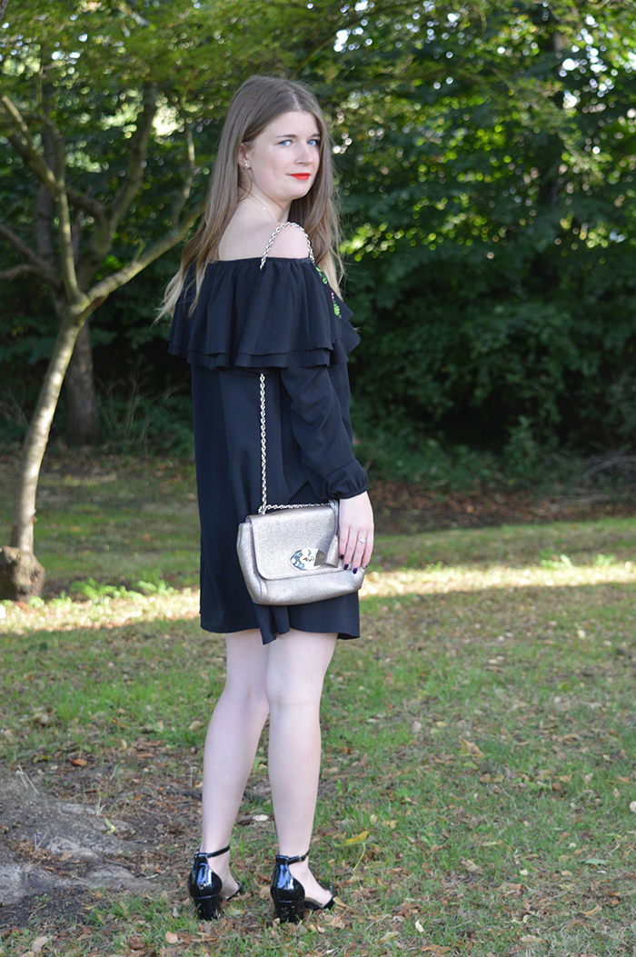 new look off the shoulder dress fashion blogger