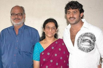 Prabhas with father