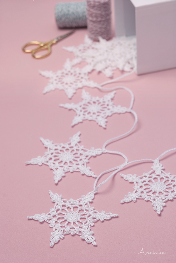 Snowflakes nr 4 garland by Anabelia Craft Design