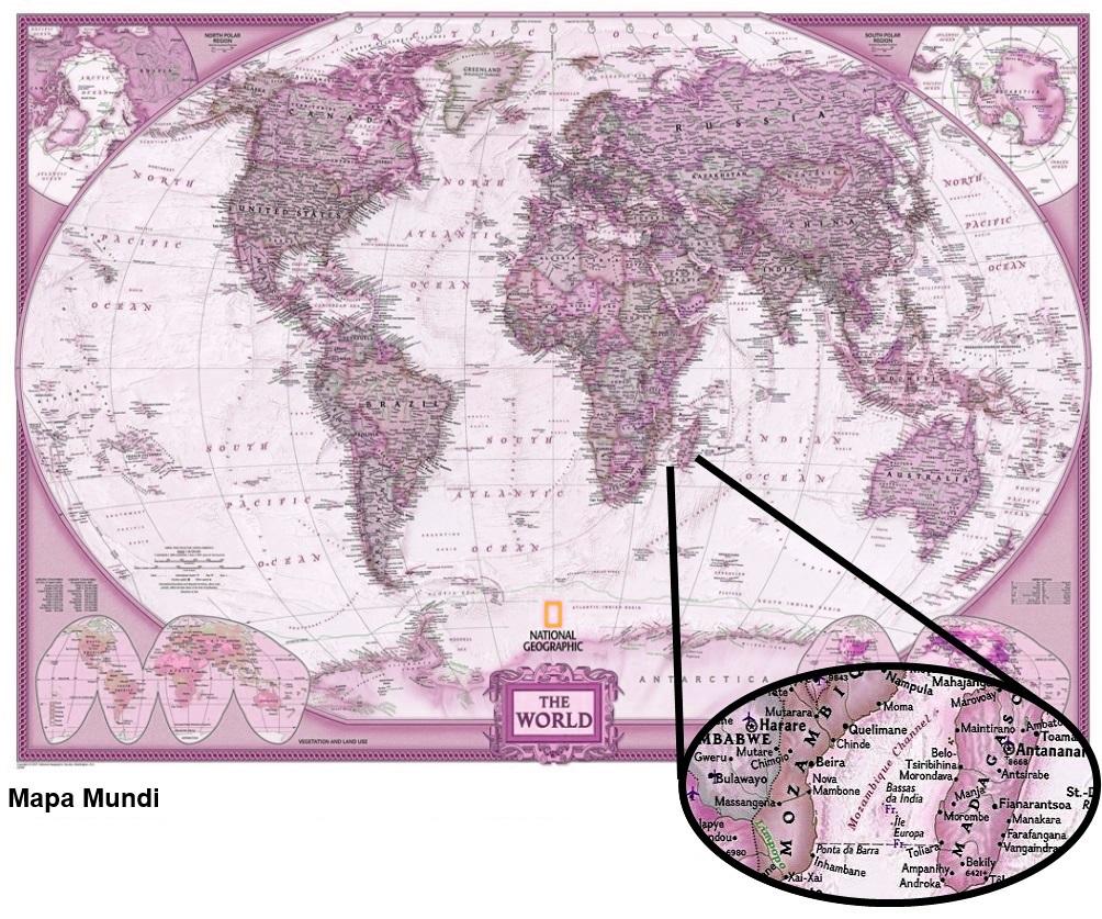 mundo mapa rosa