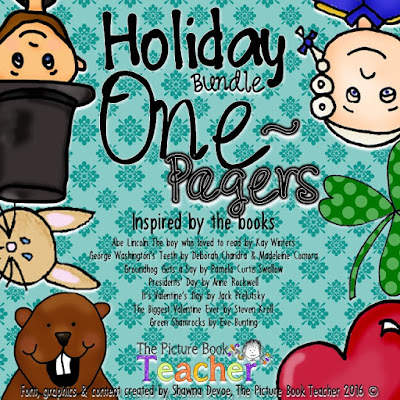 Growing Holiday One Page Bundle by The Picture Book Teacher.